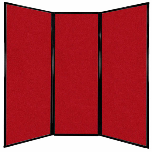 """Privacy Screen 7'6"""" x 7'4"""" Red Fabric"""