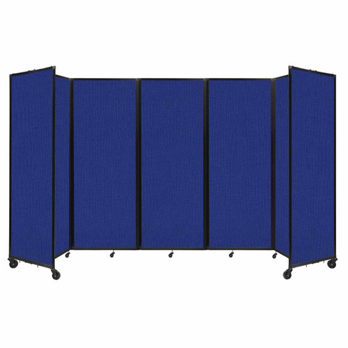 """Room Divider 360 Folding Portable Partition 14' x 7'6"""" Royal Blue Fabric"""