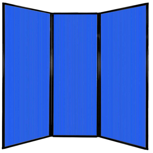 "Privacy Screen 7'6"" x 7'4"" Blue Poly Polycarbonate"