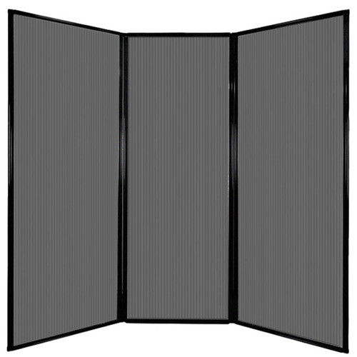 "Privacy Screen 7'6"" x 7'4"" Dark Gray Poly Polycarbonate"