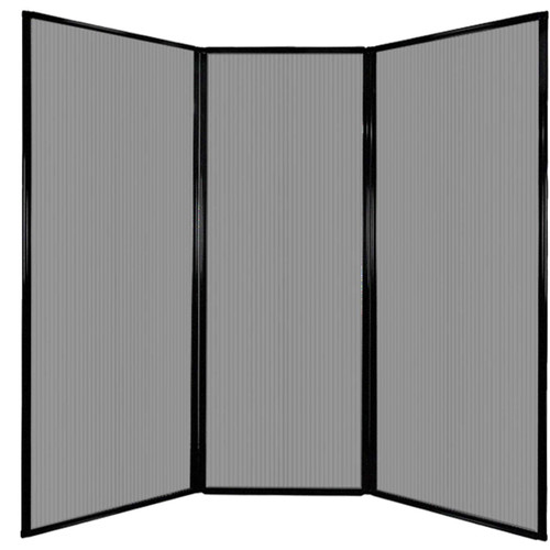 "Privacy Screen 7'6"" x 7'4"" Light Gray Poly Polycarbonate"
