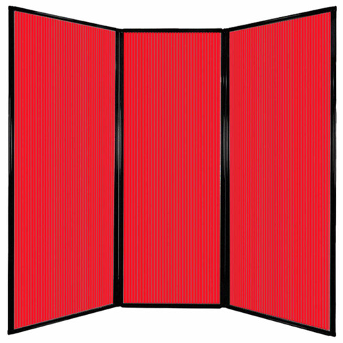 "Privacy Screen 7'6"" x 7'4"" Red Poly Polycarbonate"