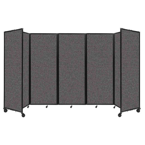 """Room Divider 360 Folding Portable Partition 14' x 7'6"""" Charcoal Gray Fabric"""