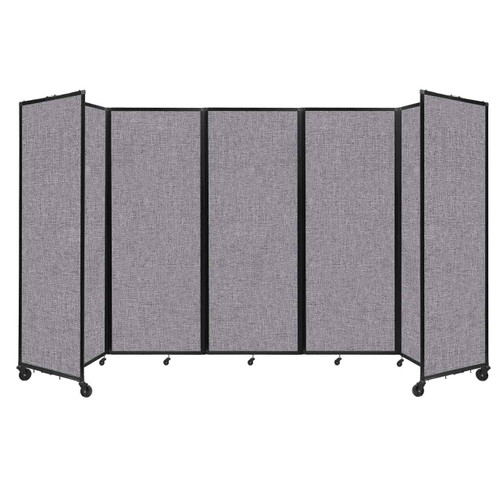 """Room Divider 360 Folding Portable Partition 14' x 7'6"""" Cloud Gray Fabric"""