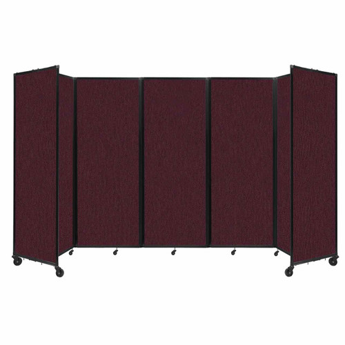 """Room Divider 360 Folding Portable Partition 14' x 7'6"""" Cranberry Fabric"""