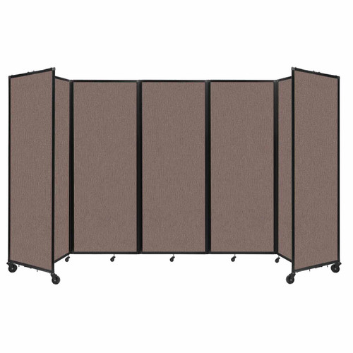 """Room Divider 360 Folding Portable Partition 14' x 7'6"""" Latte Fabric"""