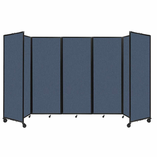 """Room Divider 360 Folding Portable Partition 14' x 7'6"""" Ocean Fabric"""
