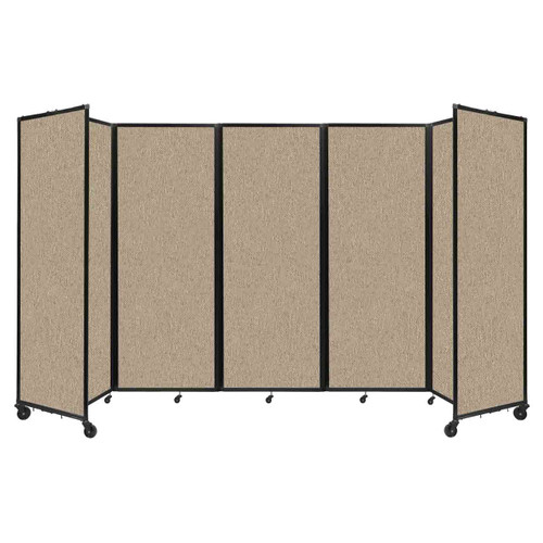 """Room Divider 360 Folding Portable Partition 14' x 7'6"""" Rye Fabric"""