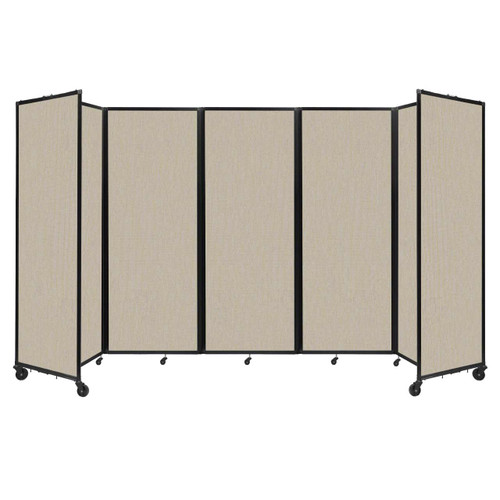 """Room Divider 360 Folding Portable Partition 14' x 7'6"""" Sand Fabric"""