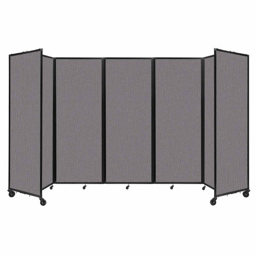 """Room Divider 360 Folding Portable Partition 14' x 7'6"""" Slate Fabric"""