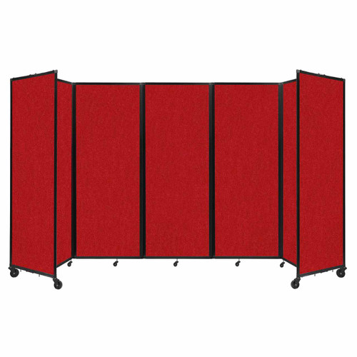 """Room Divider 360 Folding Portable Partition 14' x 7'6"""" Red Fabric"""