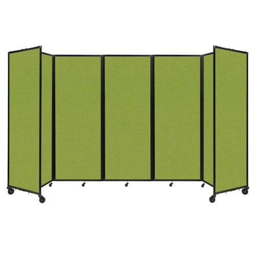 """Room Divider 360 Folding Portable Partition 14' x 7'6"""" Lime Green Fabric"""