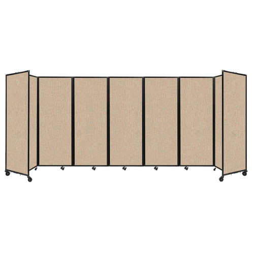 """Room Divider 360 Folding Portable Partition 19'6"""" x 7'6"""" Beige Fabric"""