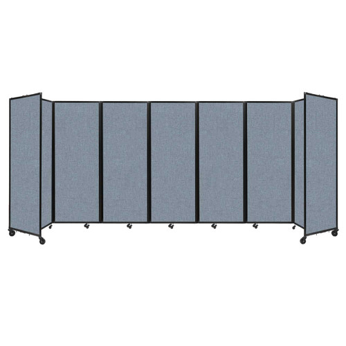 """Room Divider 360 Folding Portable Partition 19'6"""" x 7'6"""" Powder Blue Fabric"""