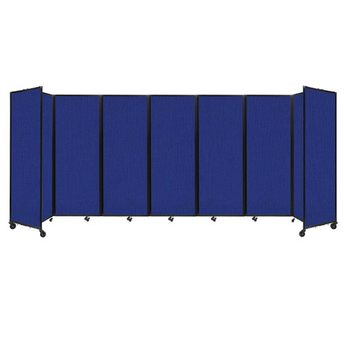 """Room Divider 360 Folding Portable Partition 19'6"""" x 7'6"""" Royal Blue Fabric"""
