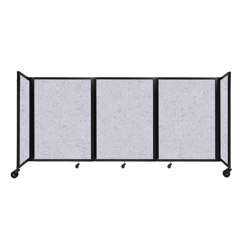 "SoundSorb Room Divider 360 Folding Partition 8'6"" x 4' Marble Gray High Density Polyester"