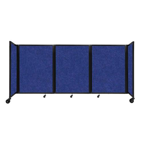 """SoundSorb Room Divider 360 Folding Partition 8'6"""" x 4' Blue High Density Polyester"""