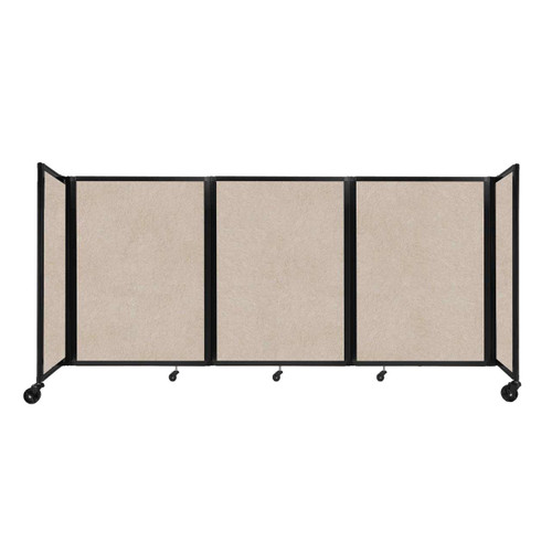 "SoundSorb Room Divider 360 Folding Partition 8'6"" x 4' Beige High Density Polyester"