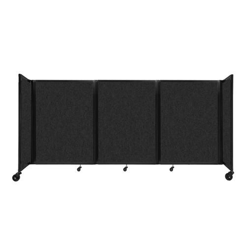 """SoundSorb Room Divider 360 Folding Partition 8'6"""" x 4' Black High Density Polyester"""