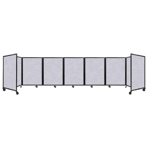 "SoundSorb Room Divider 360 Folding Partition 19'6"" x 4' Marble Gray High Density Polyester"