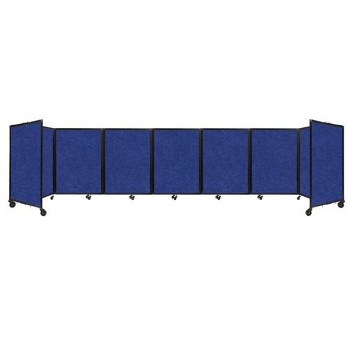 """SoundSorb Room Divider 360 Folding Partition 19'6"""" x 4' Blue High Density Polyester"""