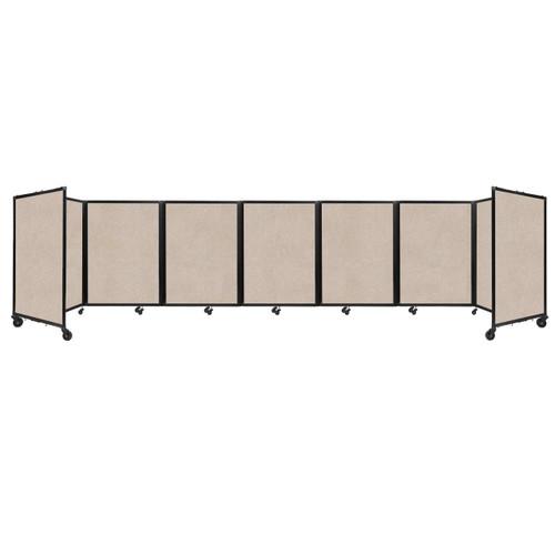 """SoundSorb Room Divider 360 Folding Partition 19'6"""" x 4' Beige High Density Polyester"""