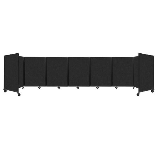 """SoundSorb Room Divider 360 Folding Partition 19'6"""" x 4' Black High Density Polyester"""