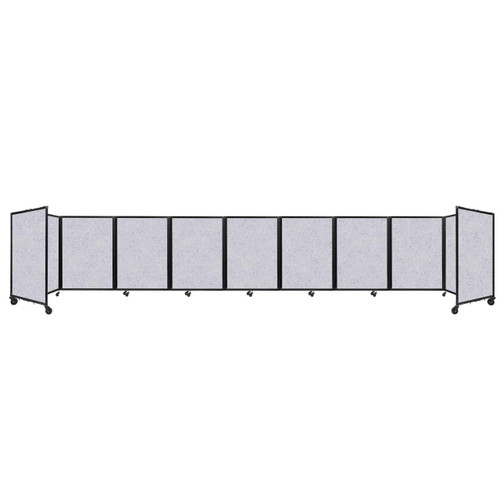 SoundSorb Room Divider 360 Folding Partition 25' x 4' Marble Gray High Density Polyester