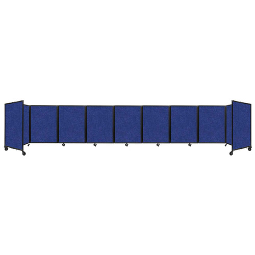 SoundSorb Room Divider 360 Folding Partition 25' x 4' Blue High Density Polyester