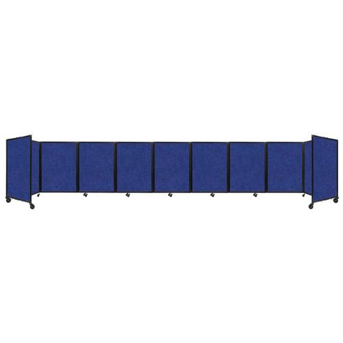SoundSorb Room Divider 360 Folding Partition 25' x 4' Blue High Density Polyester