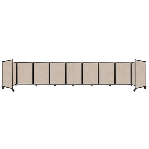 SoundSorb Room Divider 360 Folding Partition 25' x 4' Beige High Density Polyester