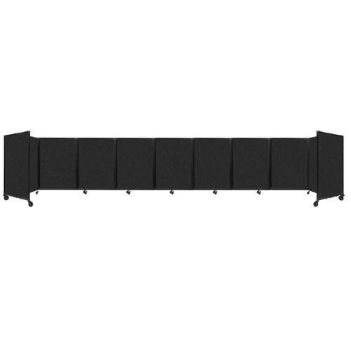 SoundSorb Room Divider 360 Folding Partition 25' x 4' Black High Density Polyester