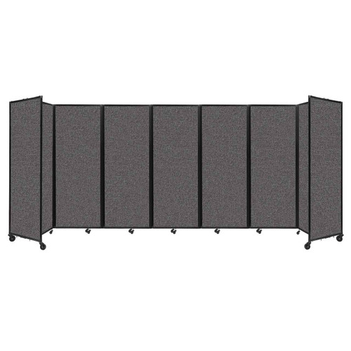 """Room Divider 360 Folding Portable Partition 19'6"""" x 7'6"""" Charcoal Gray Fabric"""