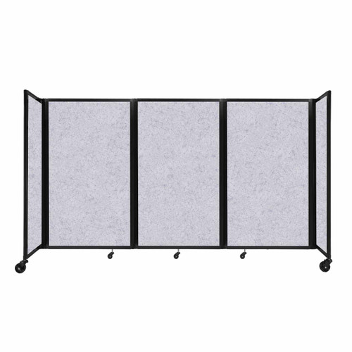 "SoundSorb Room Divider 360 Folding Partition 8'6"" x 5' Marble Gray High Density Polyester"