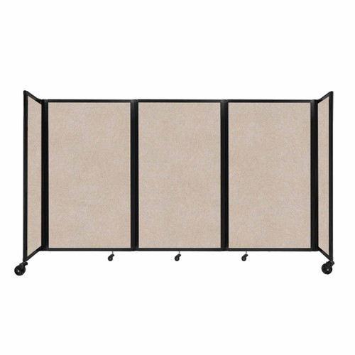 "SoundSorb Room Divider 360 Folding Partition 8'6"" x 5' Beige High Density Polyester"