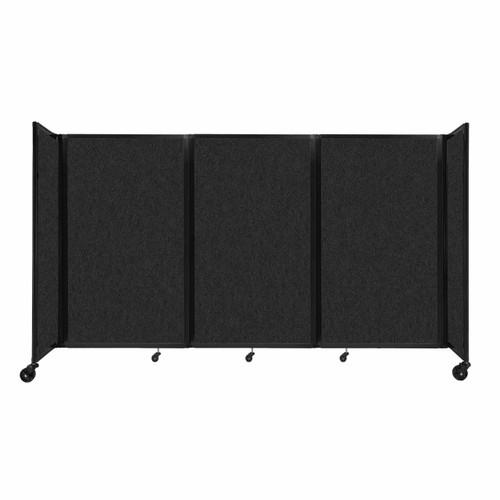 """SoundSorb Room Divider 360 Folding Partition 8'6"""" x 5' Black High Density Polyester"""