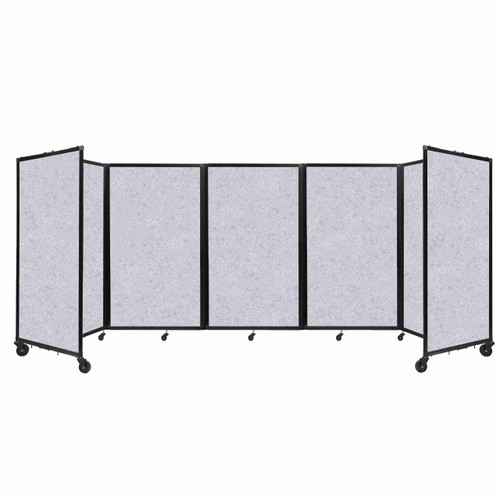 SoundSorb Room Divider 360 Folding Partition 14' x 5' Marble Gray High Density Polyester
