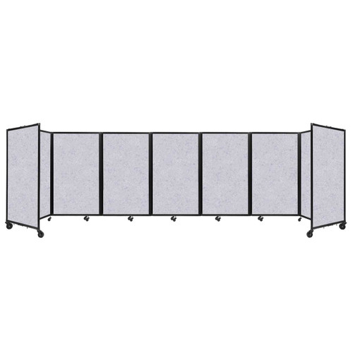 "SoundSorb Room Divider 360 Folding Partition 19'6"" x 5' Marble Gray High Density Polyester"