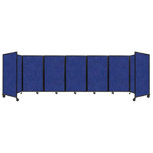 "SoundSorb Room Divider 360 Folding Partition 19'6"" x 5' Blue High Density Polyester"