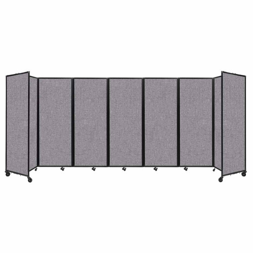 """Room Divider 360 Folding Portable Partition 19'6"""" x 7'6"""" Cloud Gray Fabric"""