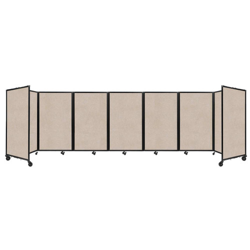 """SoundSorb Room Divider 360 Folding Partition 19'6"""" x 5' Beige High Density Polyester"""