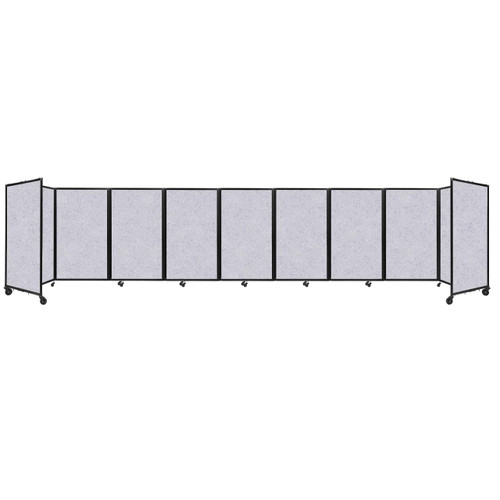 SoundSorb Room Divider 360 Folding Partition 25' x 5' Marble Gray High Density Polyester