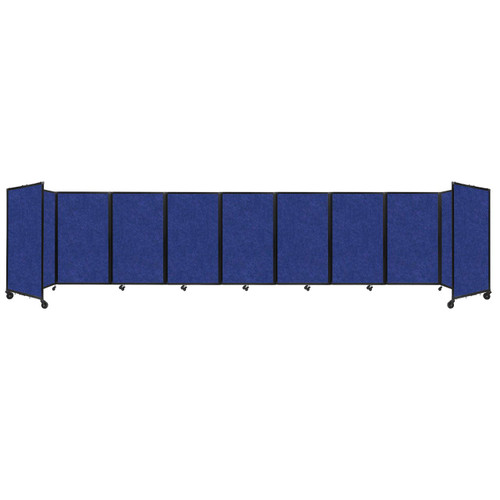 SoundSorb Room Divider 360 Folding Partition 25' x 5' Blue High Density Polyester