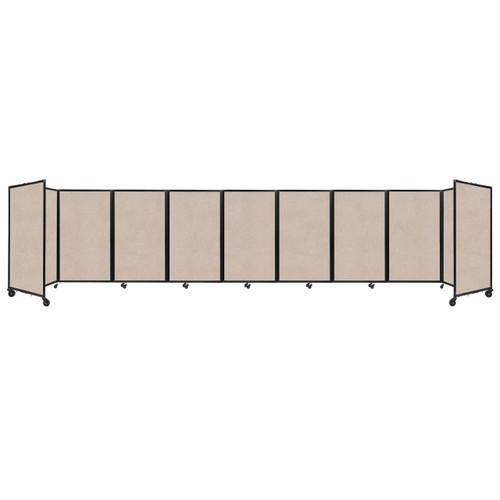 SoundSorb Room Divider 360 Folding Partition 25' x 5' Beige High Density Polyester