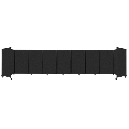 SoundSorb Room Divider 360 Folding Partition 25' x 5' Black High Density Polyester