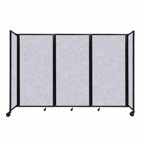 "SoundSorb Room Divider 360 Folding Partition 8'6"" x 6' Marble Gray High Density Polyester"