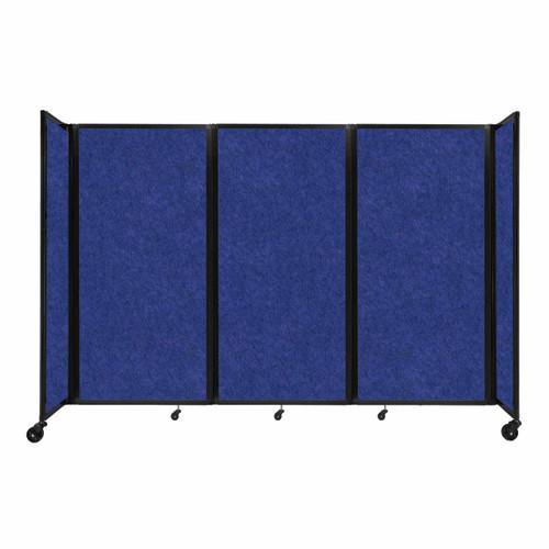 """SoundSorb Room Divider 360 Folding Partition 8'6"""" x 6' Blue High Density Polyester"""