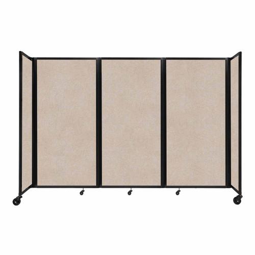 """SoundSorb Room Divider 360 Folding Partition 8'6"""" x 6' Beige High Density Polyester"""