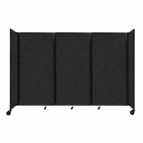 """SoundSorb Room Divider 360 Folding Partition 8'6"""" x 6' Black High Density Polyester"""