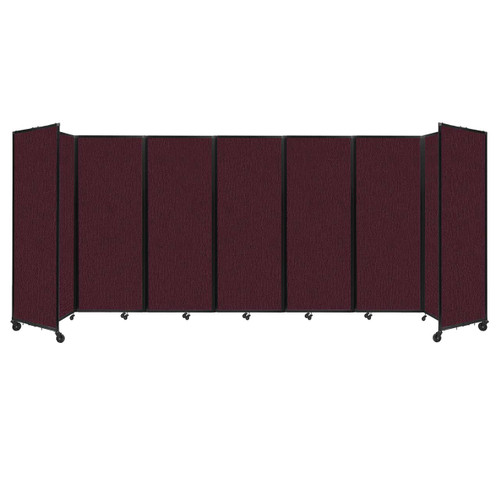 """Room Divider 360 Folding Portable Partition 19'6"""" x 7'6"""" Cranberry Fabric"""